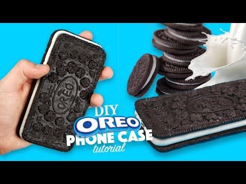 DIY Crafts: 3 Fun Oreo Cookie DIYs - Oreo Notebook, Miniature Pen & Oreo Phone Case - YouTube