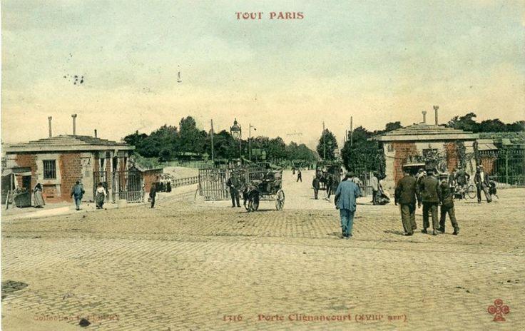 Histoire illustrée des fortifications de Paris - les portes dans leur état original.