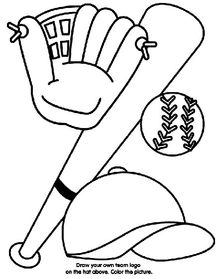 Baseball Equipment coloring page