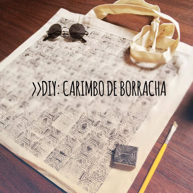 Rubber Stamp DIY Black Lola Blog: #DIY - Carimbo de Borracha!