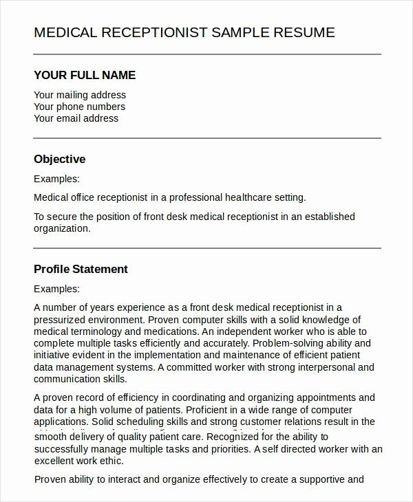 Pin Di Example Medical Office Resume Samples