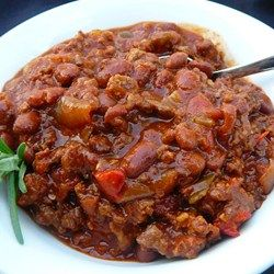 this is my FAVORITE chili recipe!  I omit the beer and don't use italian sausage (just bc I don't like it)
