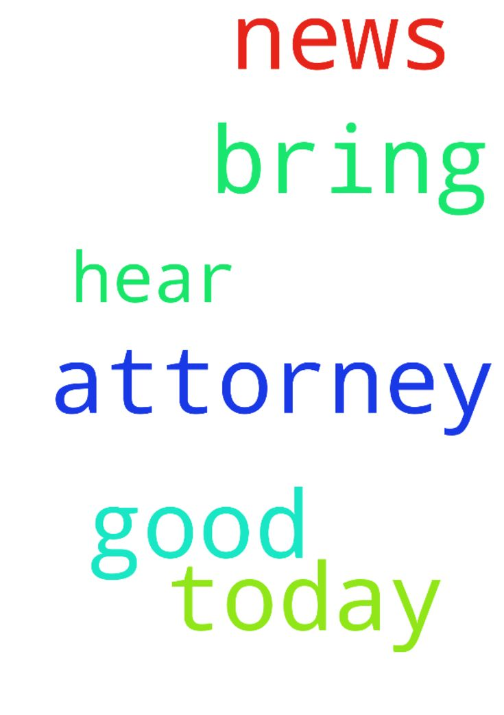 Lord please bring us good news today from our attorney. - Lord please bring us good news today from our attorney. Lord hear my prayer Amen Posted at: https://prayerrequest.com/t/uqG #pray #prayer #request #prayerrequest