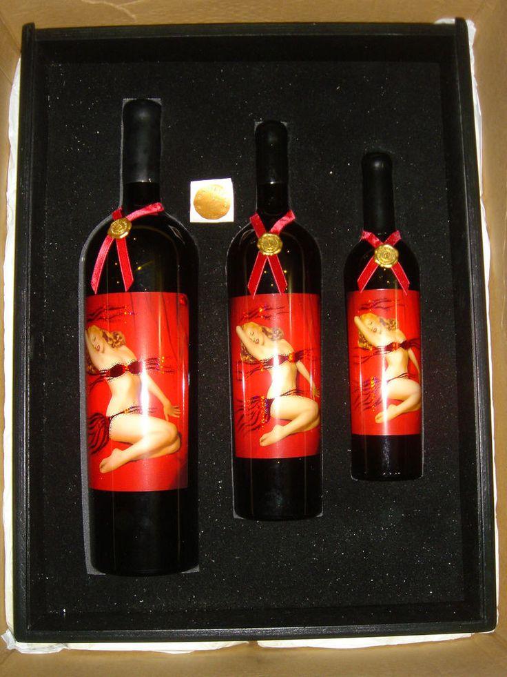 2003 Marilyn Monroe Merlot Velvet Collection 3 Sizes Rare Bottle Set  750 1.5 3L #MarilynMerlot