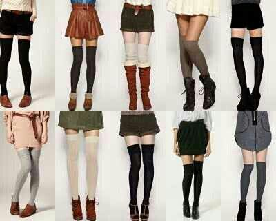 My love for over-the-knee socks doesn't make much sense because i hate shoes, especially ones requiring socks, but i do love them sooooo.