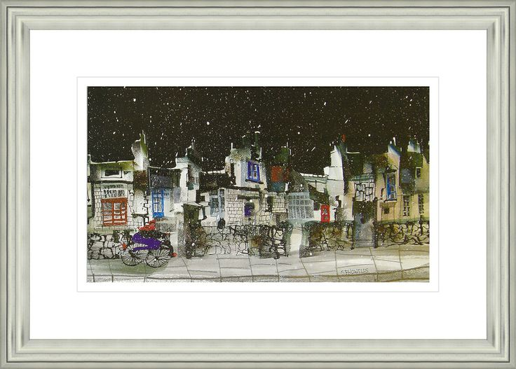 'Brr' by Sue Howells.  High Quality Reproduction Framed Print finished with glass panel & expertly framed by Spires Art framing team. Size: 14in X 18in