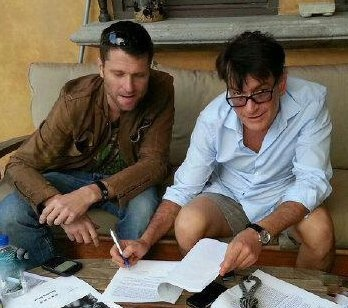 """Signing """"Historical"""" deal with Charlie Sheen!"""