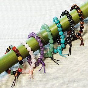 Power to the People. A Gemstone Power Bracelet for every need. According to ancient belief, gemstones worn against the skin impart special benefits. Six of these 7mm-bead Gemstone Power Bracelets are respectively strung on a stretch cord with these semiprecious stones—hematite for healing, aventurine for confidence, amethyst for relaxation, rose quartz for compassion, tiger's-eye for mental focus, reconstituted turquoise to cleanse energy centers. Multiple stones bead the seventh Gemstone…