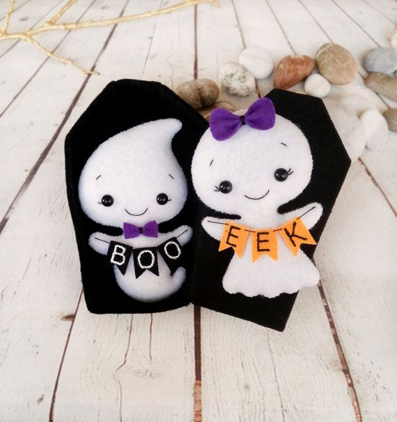 Halloween Decor Ghost Felt Toy Halloween Gift Baby Shower Favors Little Girl…