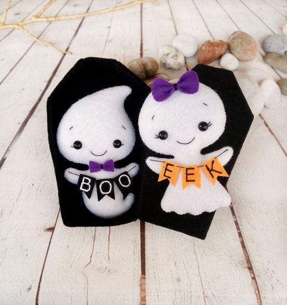 Halloween Decor Ghost Felt Toy Halloween Gift Baby Shower Favors Little Girl…