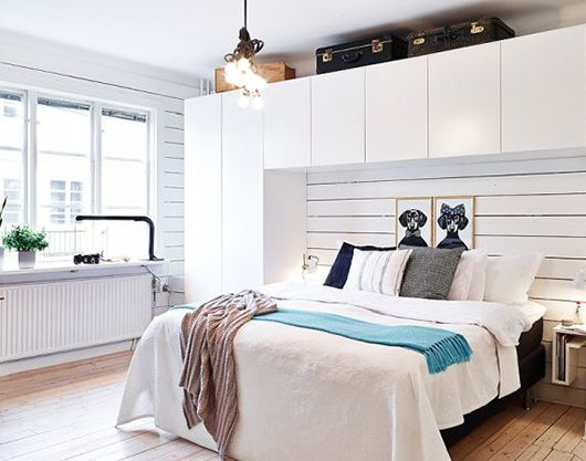 Bedroom. Storage problem solved. sfgirlbybay / bohemian modern style from a san francisco girl