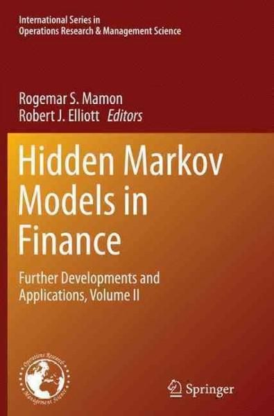 Hidden Markov Models in Finance: Further Developments and Applications