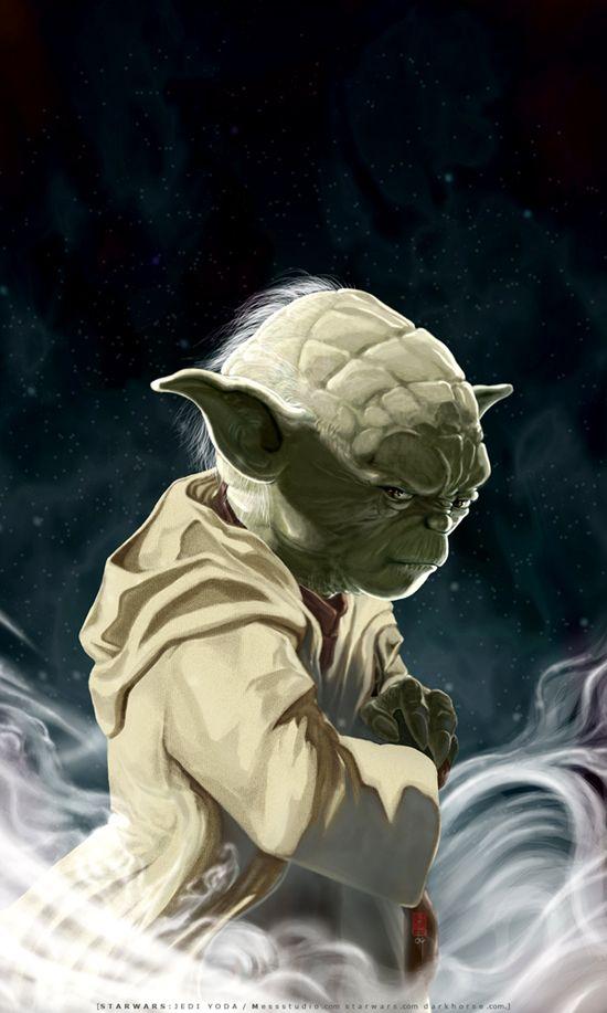 UNSHEATHED-a portrait of Yoda by ~HOON