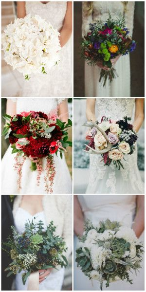 wedding bouquets for winter wedding