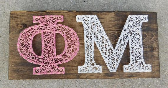 Phi Mu String Art - 12x5.5 in