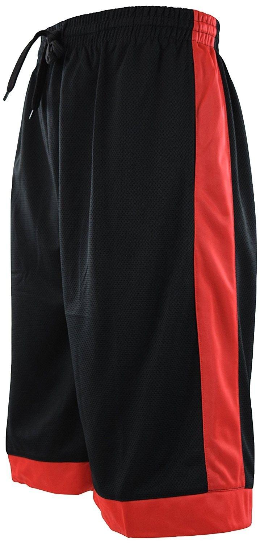 Basketball red Black shorts
