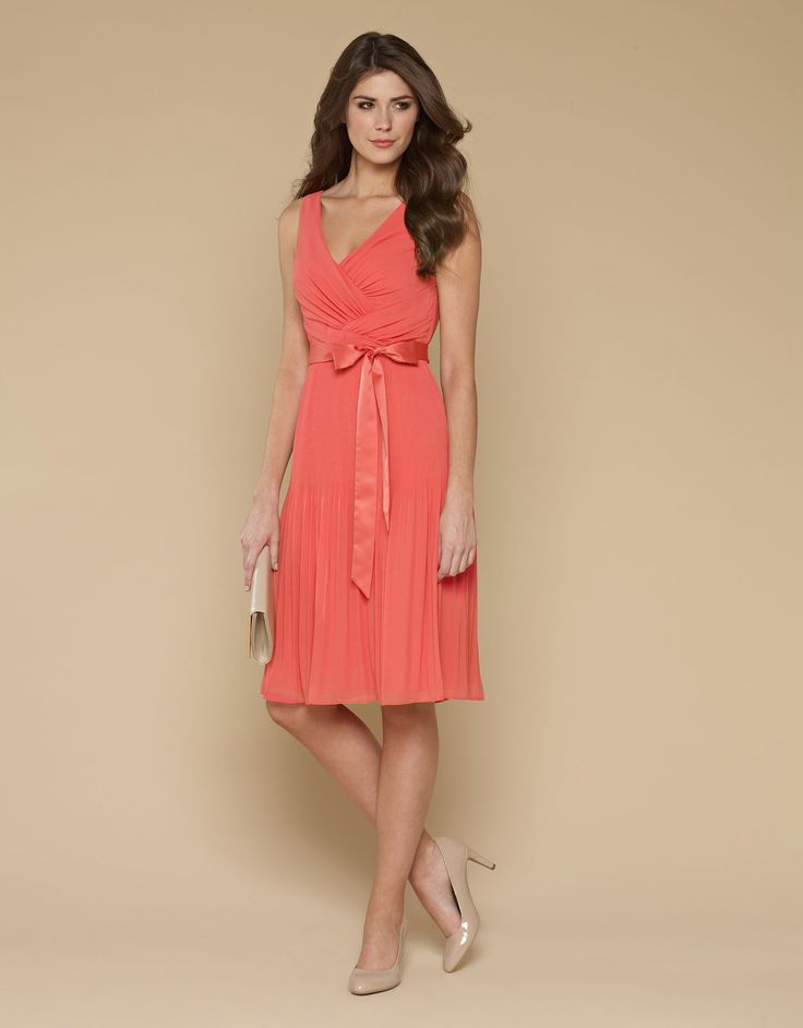 My favorite - ville Coral Pleat Dress - Monsoon. Love this one!