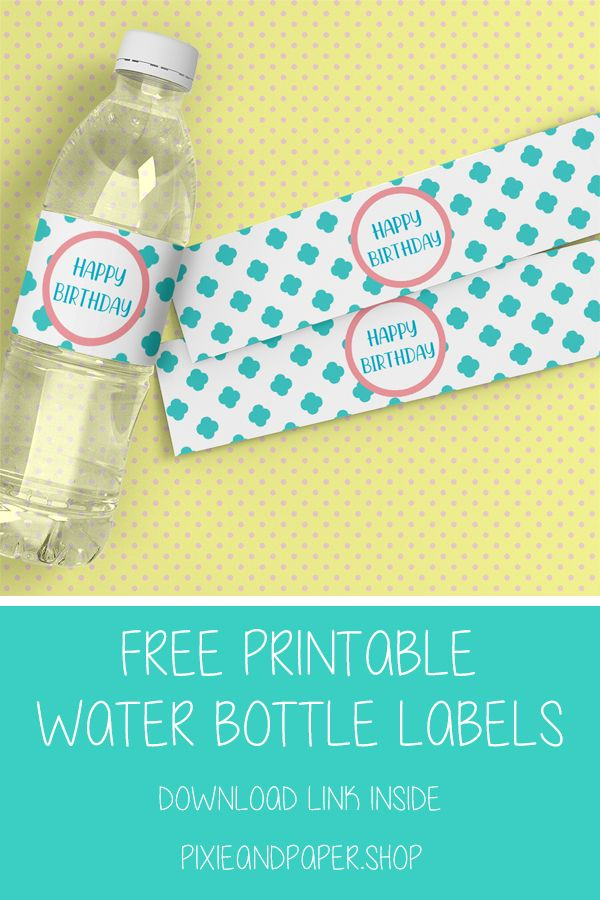 picture relating to Free Printable Water Bottle Labels known as No cost printable \