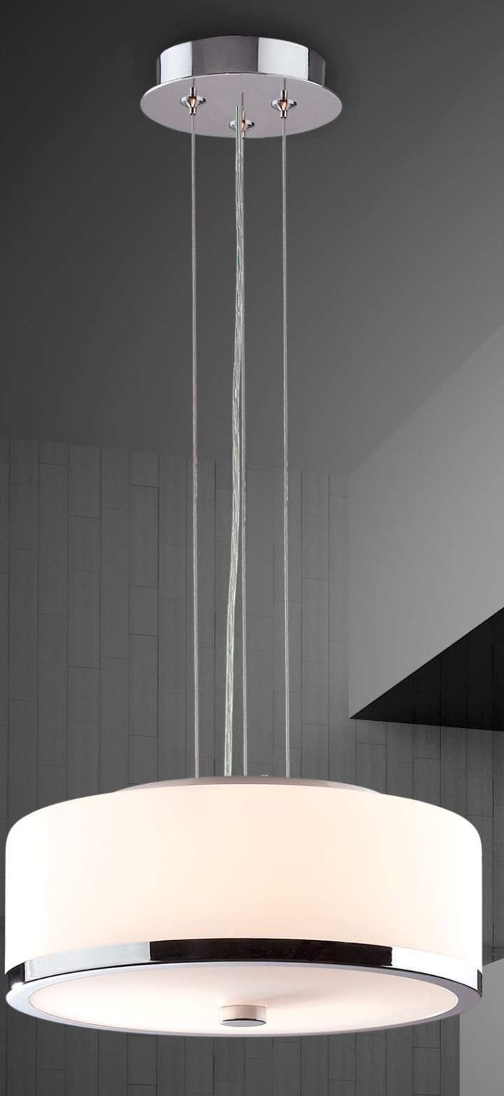 LAMPA wisząca LORIS MA01806CD-002 Italux IP20 stylowa OPRAWA okrągła ZWIS biały