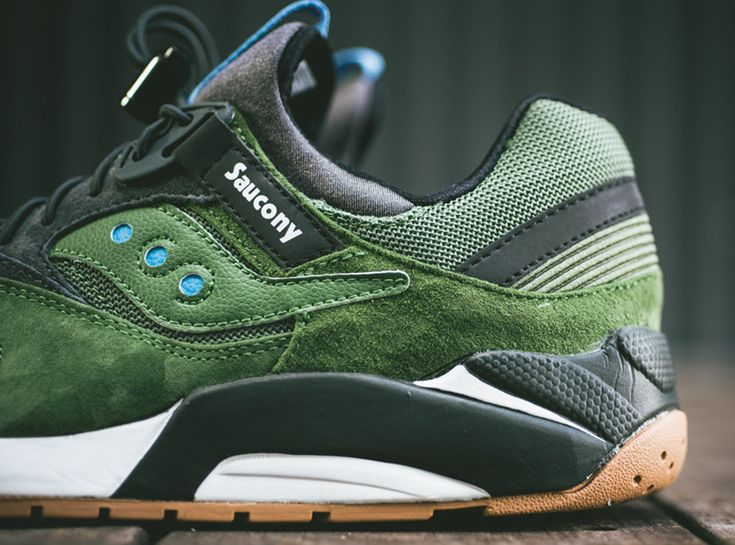 saucony grid 9000 green black gum available 01 Saucony Grid 9000 Green  Black Gum