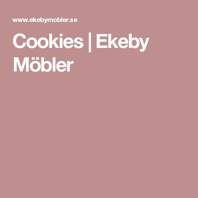 Cookies   Ekeby Möbler