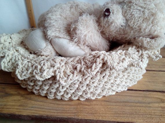 Customer order for Lauren Hand Knitted Basket Cotton Rope