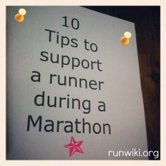 10 Tips for supporting a runner during a marathon -