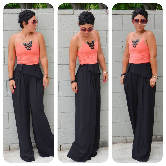 1000  images about A Salute to Black Wide Leg Pants on Pinterest