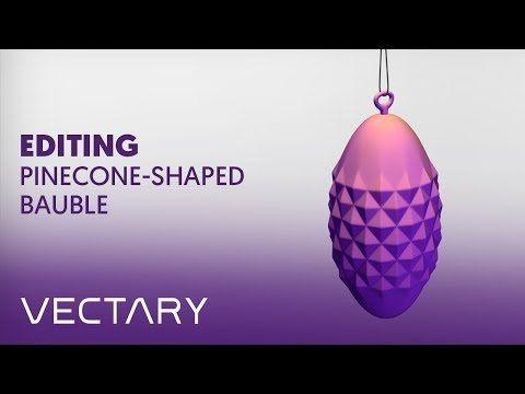 VECTARY x MyMiniFactory Xmas challenge – Editing Pinecone-shaped bauble - YouTube    #christmas #decoration #christmasdecor #ChristmasTree #howto #voronoi #decor #christmastime