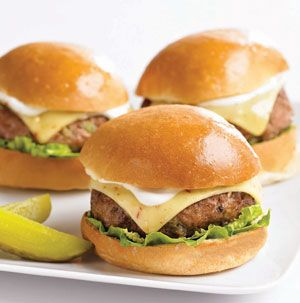 It's always grilling season! Spice up ground turkey with green onions, jalapenos, garlic and a bit for Worcestershire sauce. Your family will be asking for Jalapeno Turkey Burgers with Ranch Sauce again and again. Great with ground chicken too!