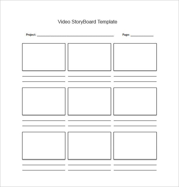 Storyboard Template - Practically speaking, you need to use a