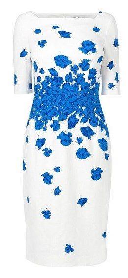 ROYAL TOUR: Kate Middleton wearing an LK Bennett blue and white Lasa Poppy print dress in Brisbane