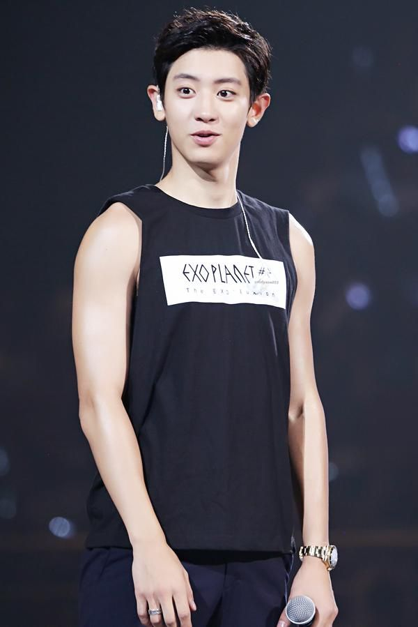 ㅋㅋ look at this cutie ☺️ Chanyeol | 151017 EXO'luXion in Guangzhou