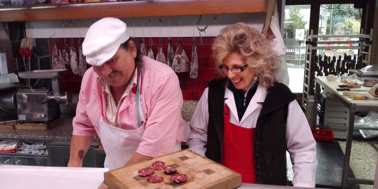 """Domenico and Maria started their local butchery 30 years ago in one small city of the Valtellina region, in the North of Italy. """"When we arrived here"""" remembers Maria, """"there were no supermarkets in the area and we were the only butcher around. We started our production for the people living around us and very quickly decided to transform the high quality local beef into delicious Bresaola"""". Valtellina is especially renowned for its Bresaola, thanks to the unique climate of the valley..."""