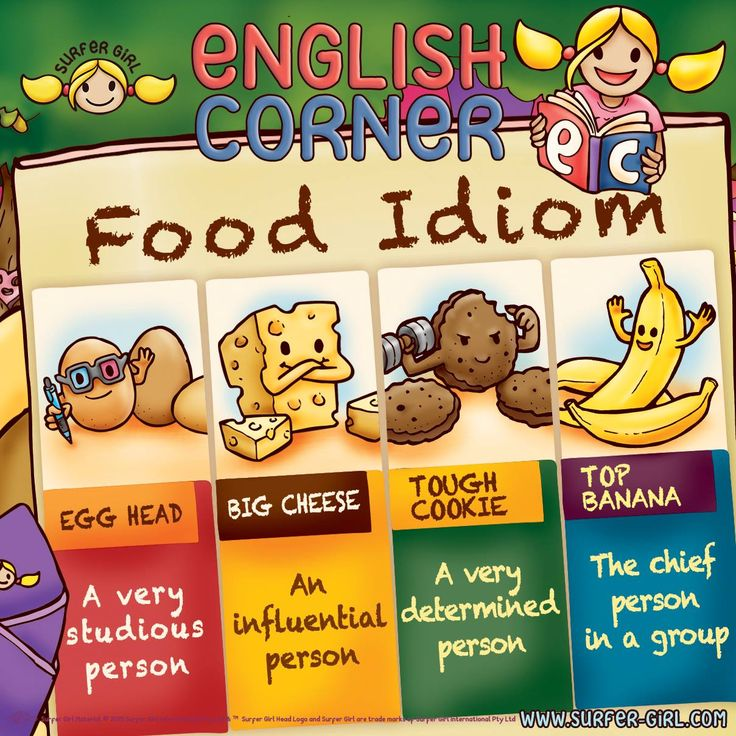 Hi Girls ^^ Saturday is food day! Hehe ^^ Don't you agree? :) Did you know that there are a lot of English idioms that involve food? :) Can you think of more words? ^^ Love, Summer <3 #surfergirl #positivedifference #englishcorner