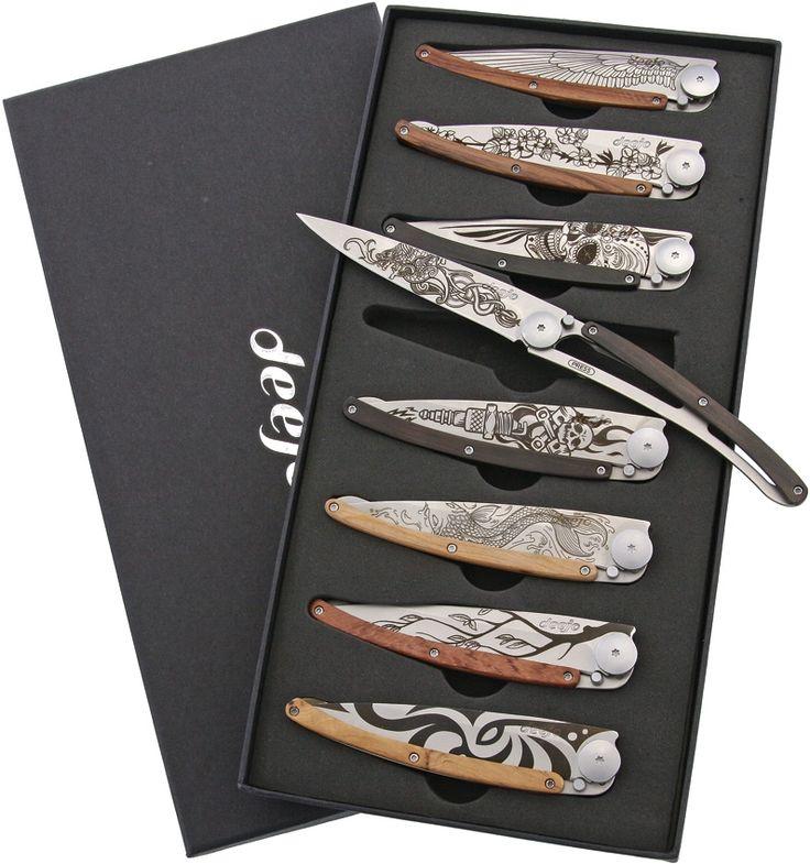 Deejo: Tattoo Set of 8, 37g Knives