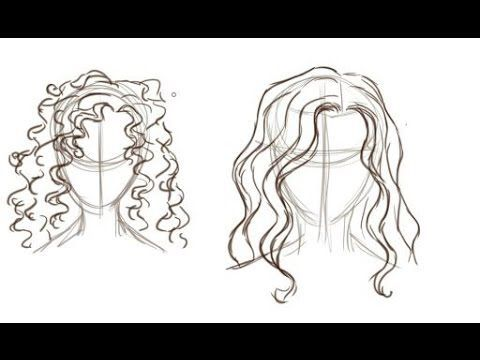 How To Draw Curly Hair Youtube Curly Hair Drawing