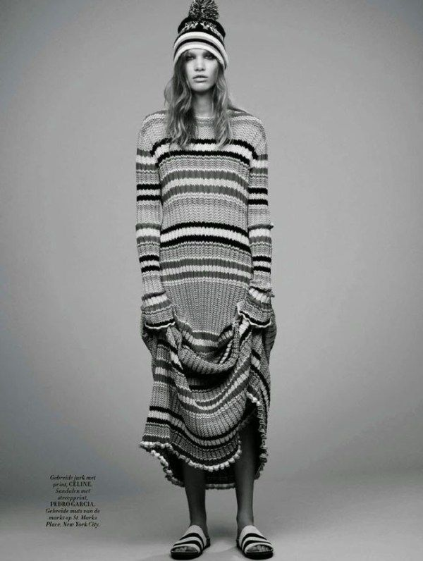 knitGrandeur: The Striped Floor Length Dress-Celine
