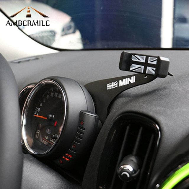 Ambermile Car Mobile Phone Holder Bracket Union Jack Decorations For Bmw Mini Cooper Countryman F60 Mini Cooper Mini Cooper Accessories Mini Cooper Countryman