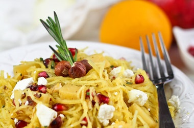 gluten free spaghetti squash pomegranate amp goat cheese salad