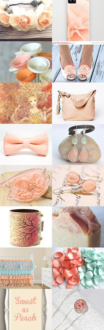 just peachy  by Maggie Davis on Etsy--Pinned with TreasuryPin.com