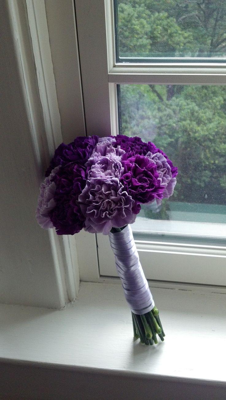 Purple and lavender carnation bouquet.
