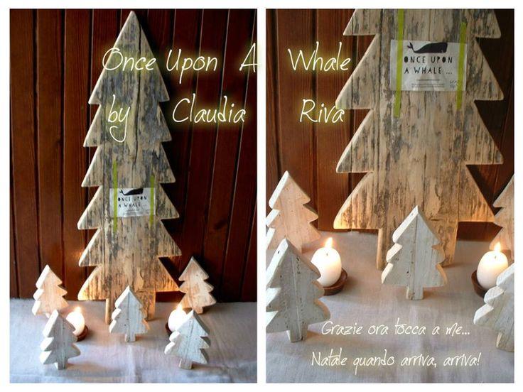 Deco natalizie in legno riciclato