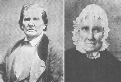 Abraham Lincoln's father - Thomas Lincoln with 2nd wife - Sarah Bush Johnston
