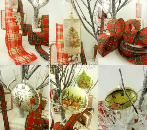 Χριστουγεννιάτικη διακόσμηση σε vintage style