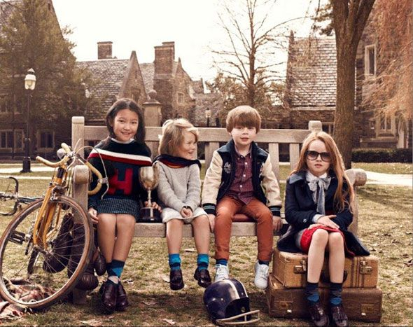 Back to school for Tommy Hilfiger kids, FW 2013 2014.