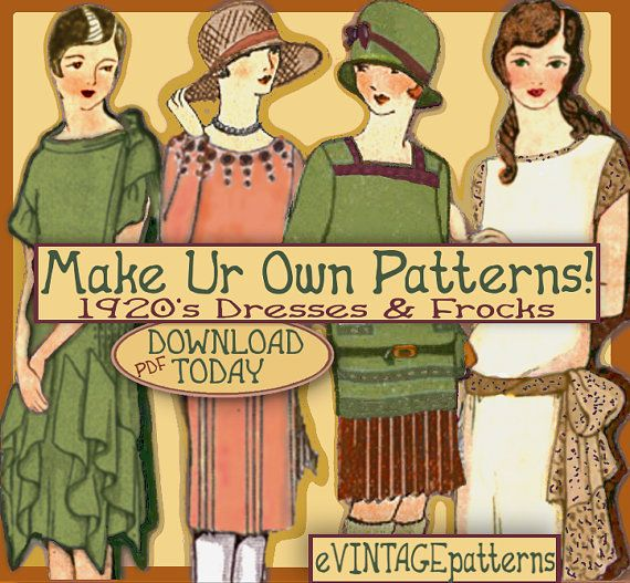 downton abbey dresses patterns | 1920s Downton Abbey Frocks - Easy - Make your own 1920 Dress Patterns ...