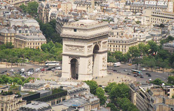 Arc De Triomphe, Paris - Crazy Traffic Video | The Travel Tart Blog