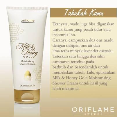 Milk and Honey Gold Shower cream yang begitu menenangkan..
