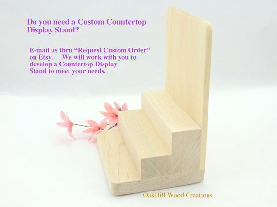 Product Display Stand Three Step Maple by OakHillWoodCreations